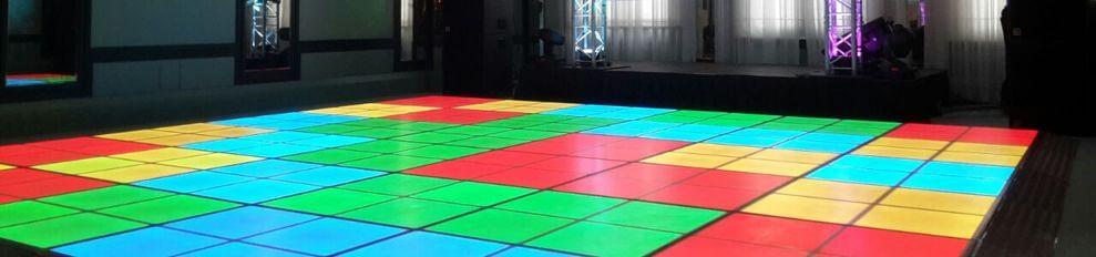 Verlichtedansvloer of LEDvloer compleet verzorgt