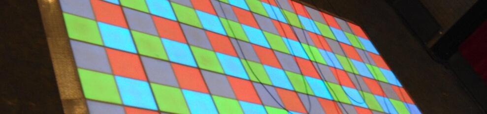 Verlichtedansvloer voorbeeld 8 x 8 Meter