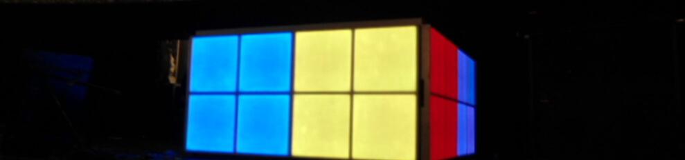Verlichtedansvloer of LEDBooth voorbeeld in Paradiso