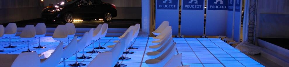 Verlichtedansvloer of LEDvloer bijzondere vloer afwerking