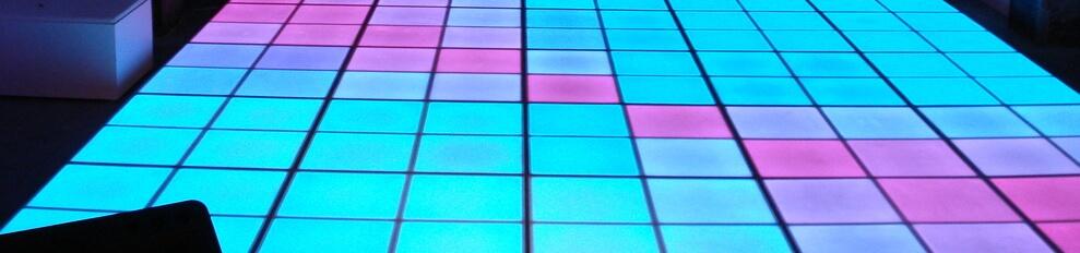 Verlichtedansvloer voorbeeld 5 x 5  in Paradiso